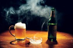 Курение и злоупотребление алкоголем - причины инфаркта
